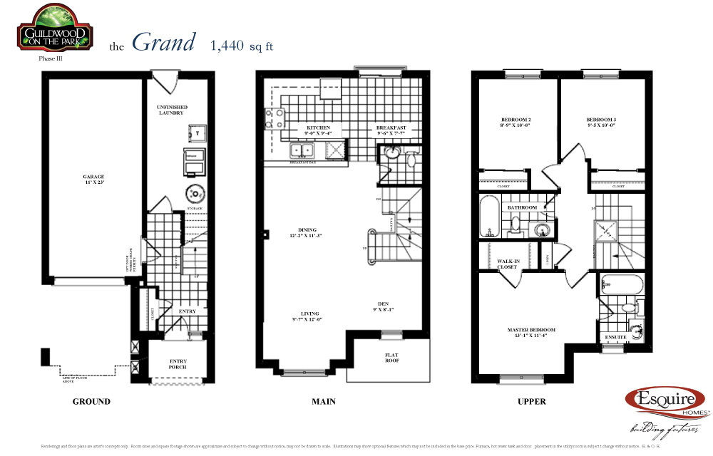Esquire homes new homes in toronto scarborough lindsay for Grand home plans